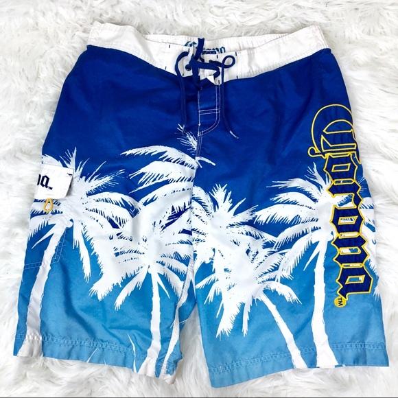 3bc0454a6a Corona Swim | Blue White Mens Board Shorts L | Poshmark
